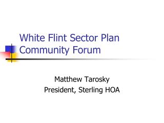 White Flint Sector Plan Community Forum