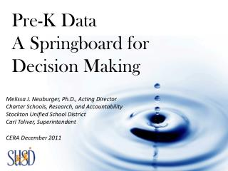 Melissa J. Neuburger, Ph.D., Acting Director Charter Schools, Research, and Accountability