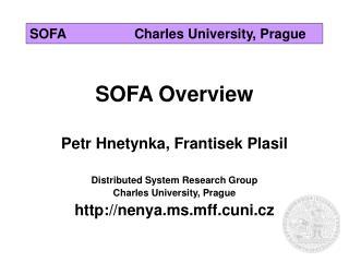 SOFACharles University, Prague