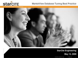 MarketView Database Tuning Best Practice