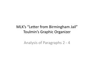 "MLK's ""Letter from Birmingham Jail"" Toulmin's Graphic Organizer"