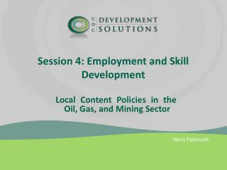 Session 4: Employment and Skill Development