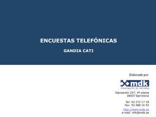 ENCUESTAS TELEFÓNICAS