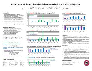 Assessment of density functional theory methods for the Ti-O- Cl  species