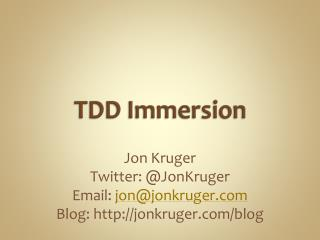 TDD Immersion