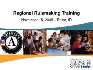 Regional Rulemaking Training