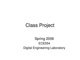 Class Project