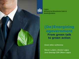 (De)Energizing egovernment From green talk to green action