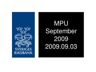 MPU September 2009 2009.09.03