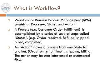 What is Workflow?