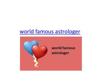 world famous astrologer