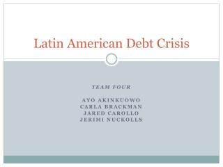 Latin American Debt Crisis
