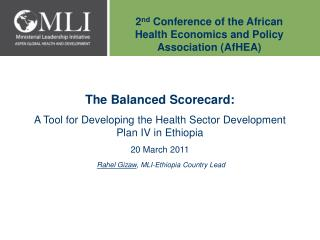 2 nd  Conference of the African Health Economics and Policy Association (AfHEA)