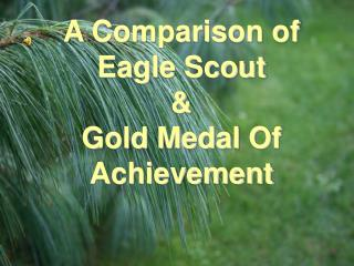 A Comparison of Eagle Scout  Gold Medal Of Achievement