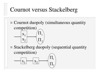 Cournot versus Stackelberg