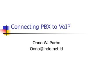 Connecting PBX to VoIP