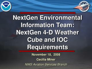 NextGen Environmental Information Team:  NextGen 4-D Weather Cube and IOC Requirements