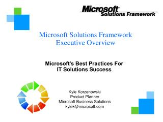 Microsoft Solutions Framework Executive Overview