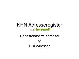 NHN Adresseregister