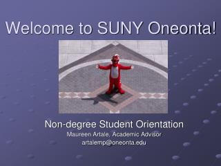 Welcome to SUNY Oneonta!