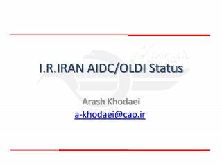 I.R.IRAN AIDC/OLDI Status