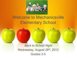 Welcome to Mechanicsville  Elementary School