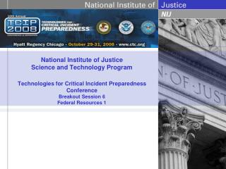 The National Institute of Justice?