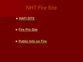 NHT Fire Site