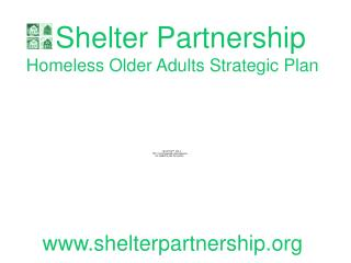 Shelter Partnership  Homeless Older Adults Strategic Plan shelterpartnership