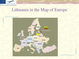 Lithuania in the Map of Europe