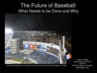 The Future of Baseball: What Needs to be Done and Why