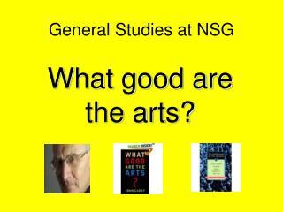 General Studies at NSG