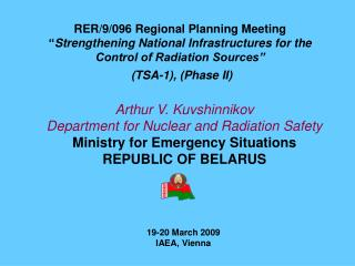 Arthur V. Kuvshinnikov Department for Nuclear and Radiation Safety