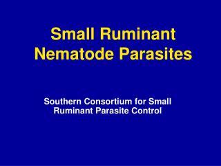 Small Ruminant Nematode Parasites