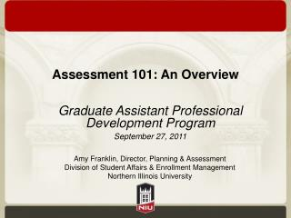 Assessment 101: An Overview