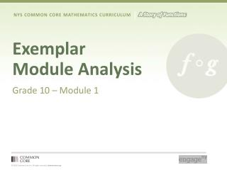 Exemplar Module Analysis