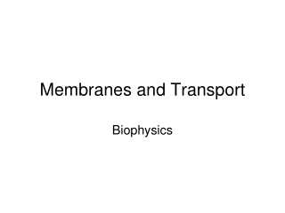 Control of Cell Volume and Membrane Potential