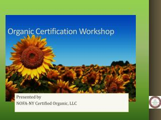Organic Certification Workshop
