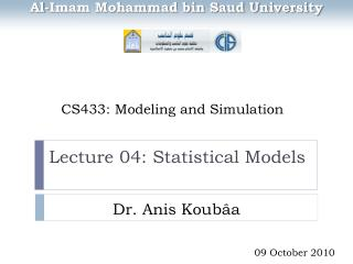 CS433: Modeling and Simulation