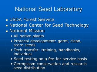 National Seed Laboratory