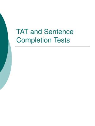TAT and Sentence Completion Tests