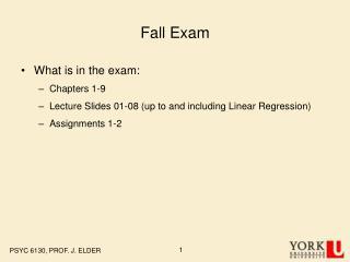 Fall Exam