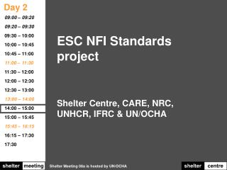 ESC NFI Standards project