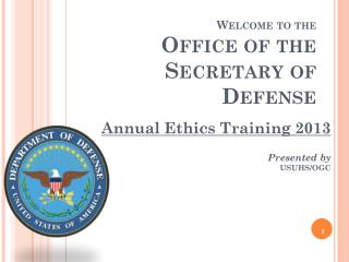 Welcome to the Office of the Secretary of Defense