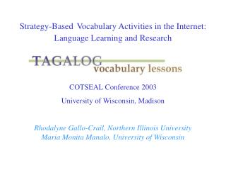 Strategy-Based Vocabulary Activities in the Internet: Language Learning and Research