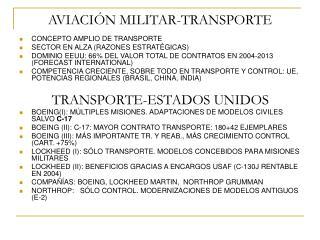 AVIACIÓN MILITAR-TRANSPORTE