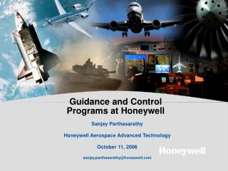 Guidance and Control Programs at Honeywell