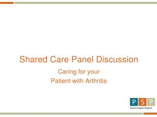 Shared Care Panel Discussion