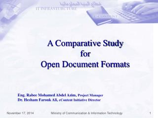 A Comparative Study  for  Open Document Formats