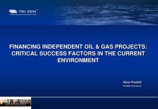 FINANCING INDEPENDENT OIL & GAS PROJECTS: CRITICAL SUCCESS FACTORS IN THE CURRENT ENVIRONMENT